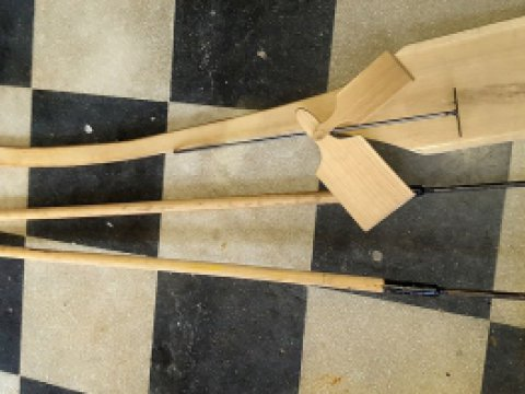 Kemence eszközök (készlet): piszkavas, kemence lapát, vágódeszka