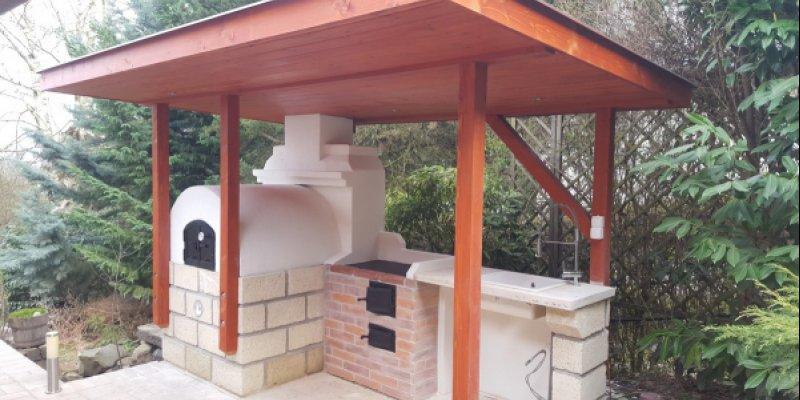 Kerti konyha építés Leányfalun…