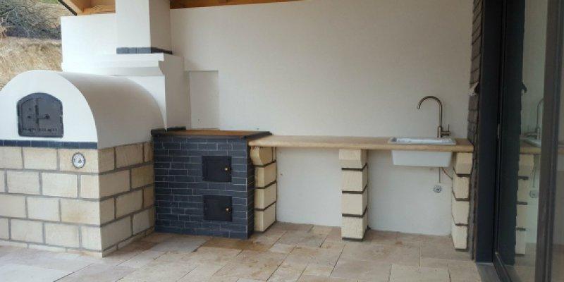 Kerti konyha építés Budaörsön
